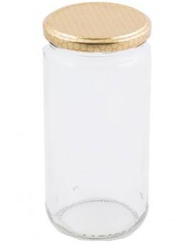 Bote de cristal liso 1kg...