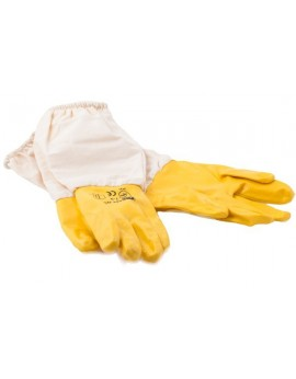 Nitrile gloves 'mustard'